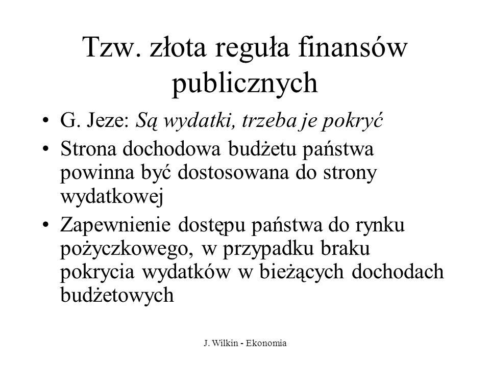 Tzw. złota reguła finansów publicznych
