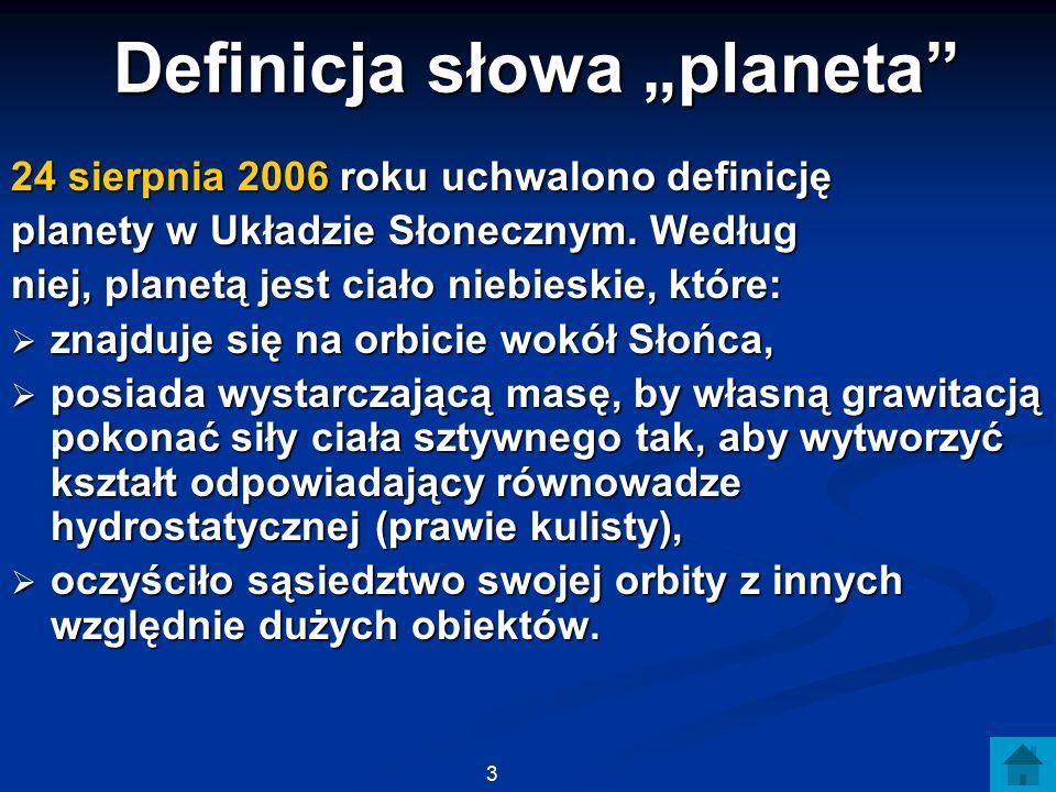 """Definicja słowa """"planeta"""