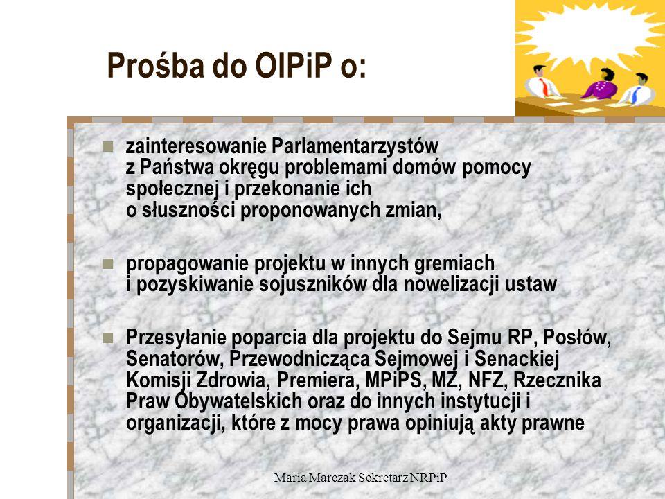 Maria Marczak Sekretarz NRPiP