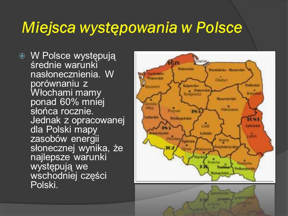 Miejsca występowania w Polsce
