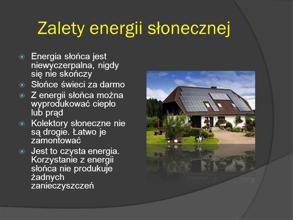 Zalety energii słonecznej