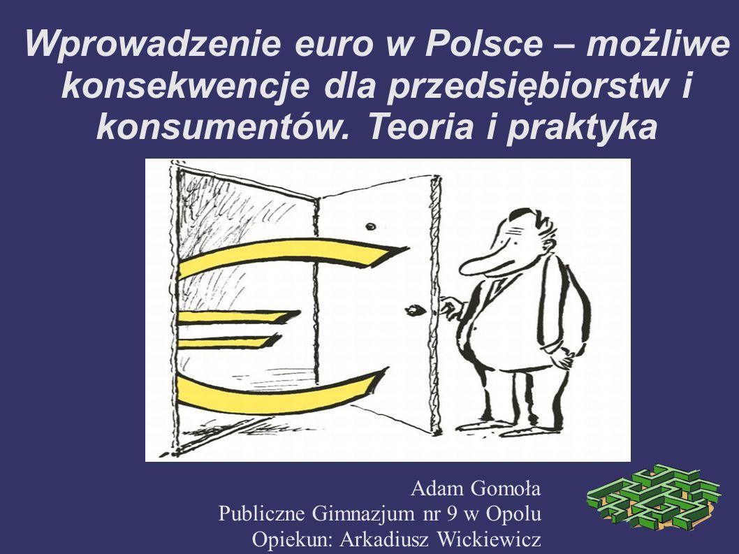 Wprowadzenie euro w Polsce – możliwe konsekwencje dla przedsiębiorstw i konsumentów. Teoria i praktyka
