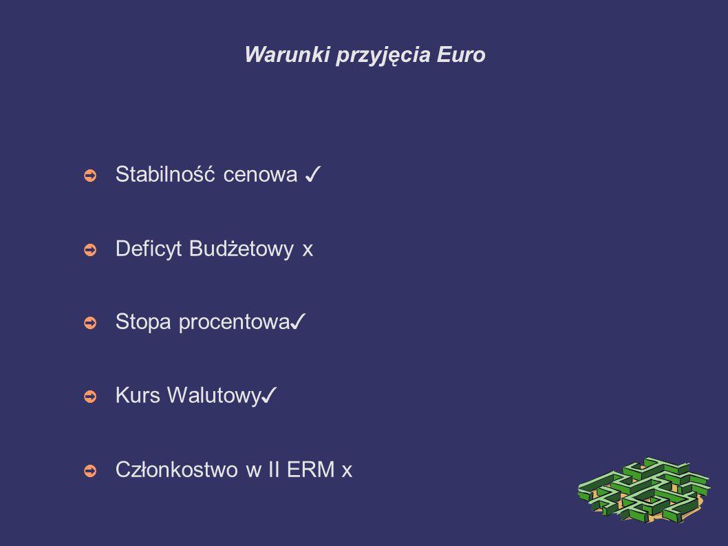 Warunki przyjęcia Euro