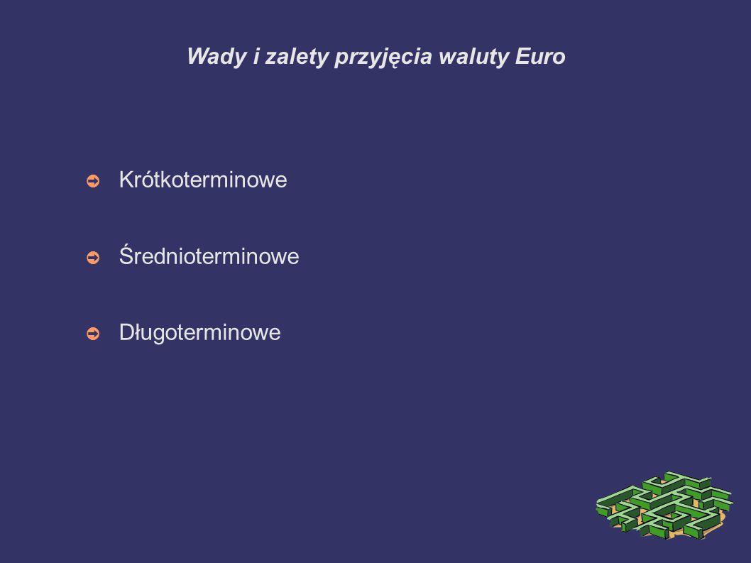 Wady i zalety przyjęcia waluty Euro