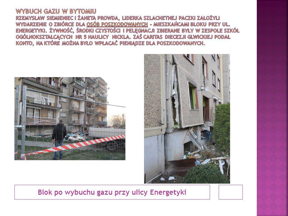 Blok po wybuchu gazu przy ulicy Energetyki