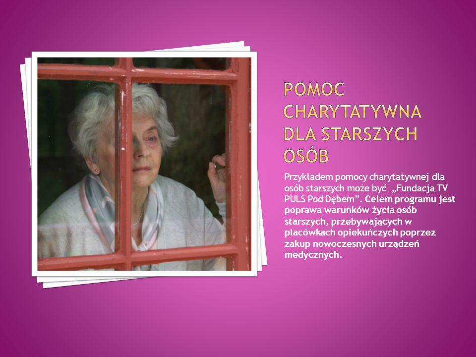 Pomoc charytatywna dla starszych osób