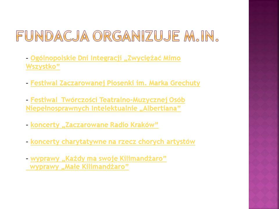 FUNDACJA ORGANIZUJE M.IN.