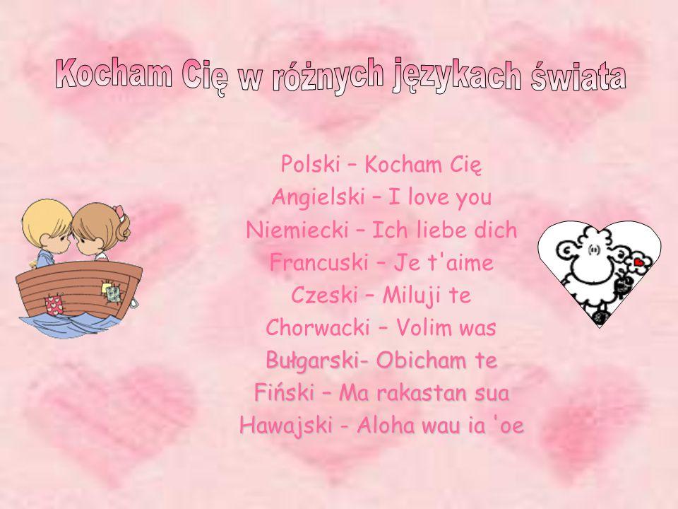 Kocham Cię w różnych językach świata