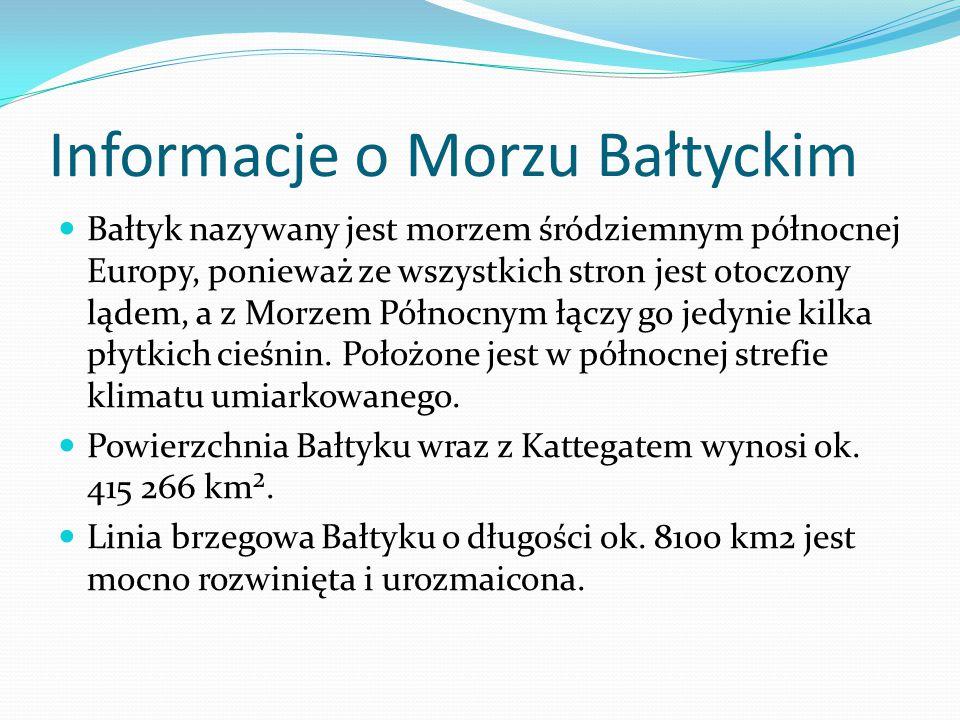 Informacje o Morzu Bałtyckim
