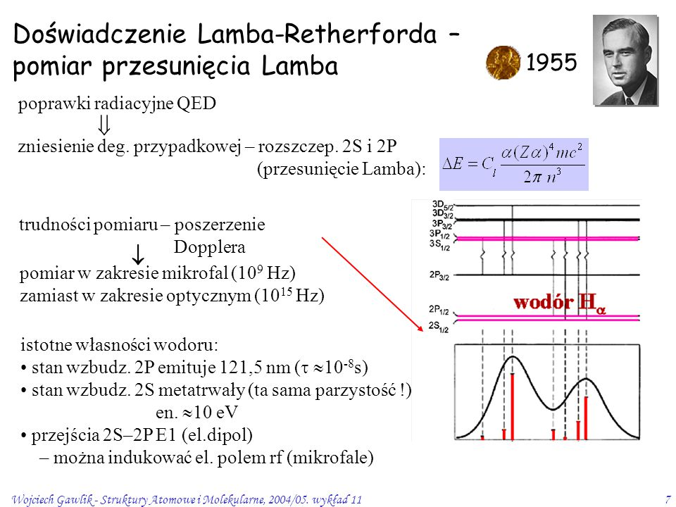 Doświadczenie Lamba-Retherforda – pomiar przesunięcia Lamba