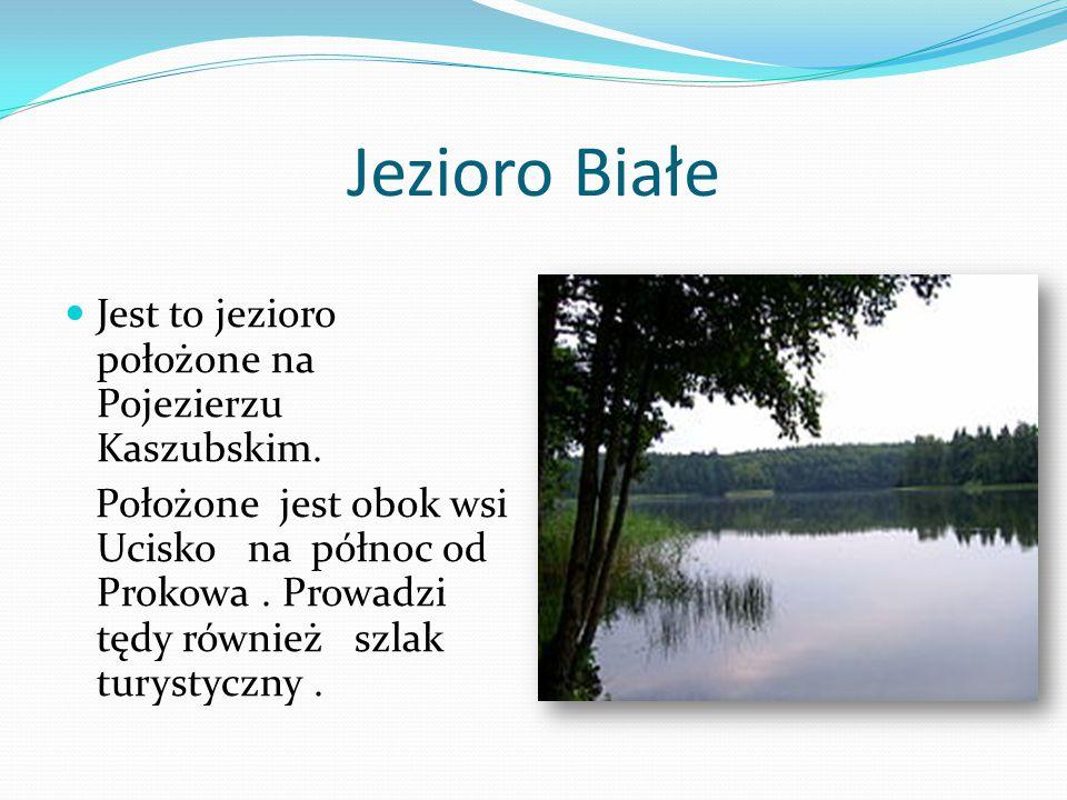 Jezioro Białe Jest to jezioro położone na Pojezierzu Kaszubskim.