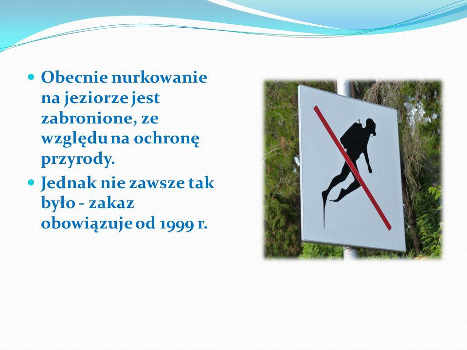 Obecnie nurkowanie na jeziorze jest zabronione, ze względu na ochronę przyrody.