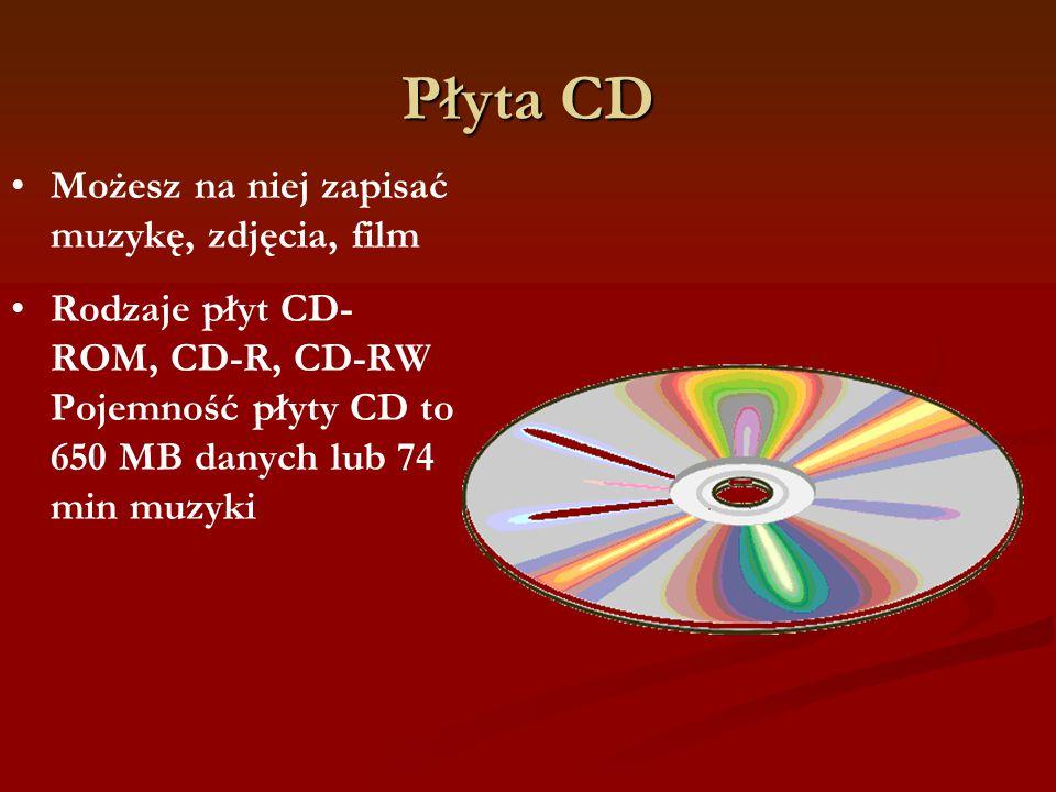 Płyta CD Możesz na niej zapisać muzykę, zdjęcia, film