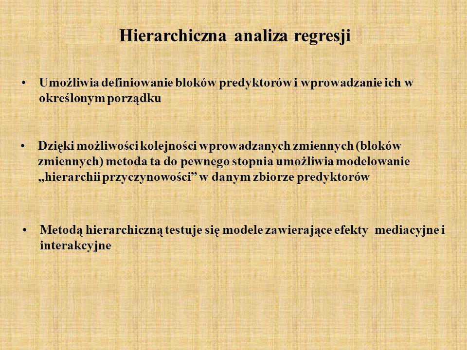 Hierarchiczna analiza regresji