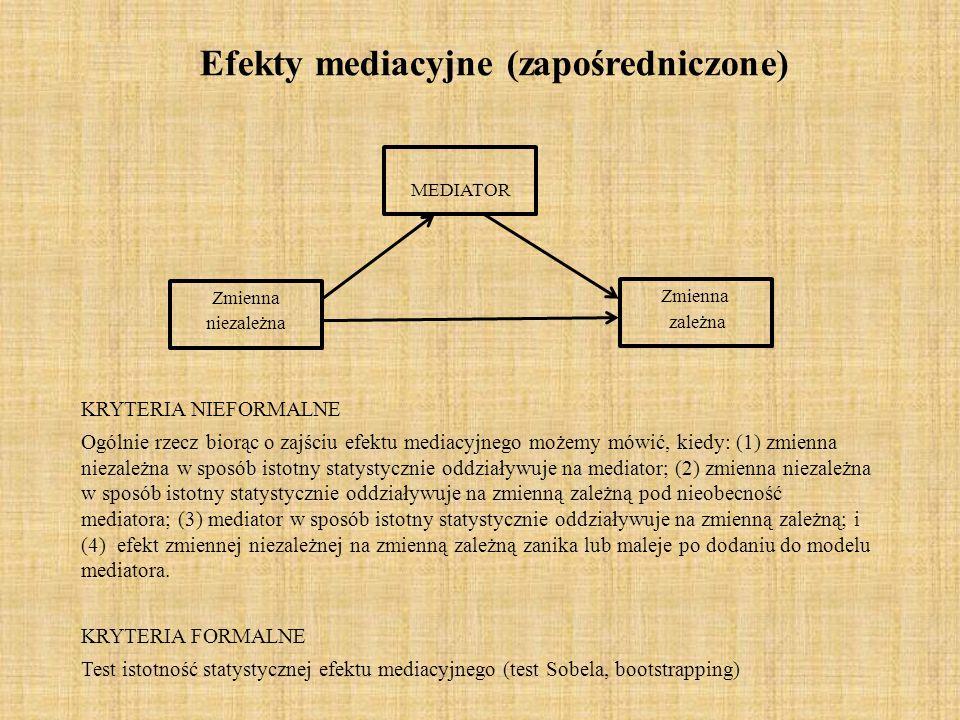 Efekty mediacyjne (zapośredniczone)