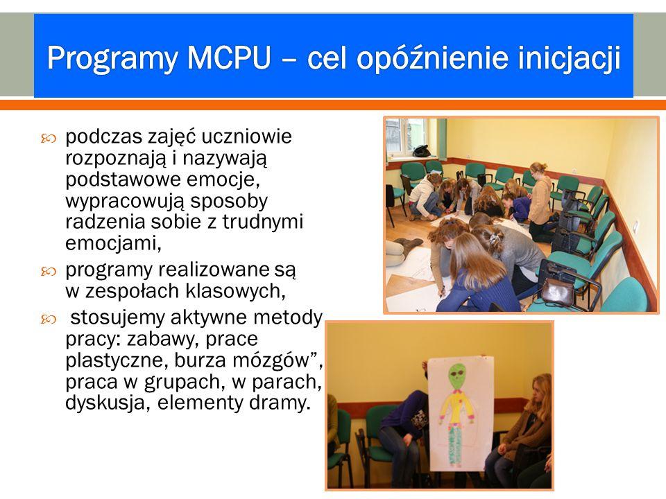 Programy MCPU – cel opóźnienie inicjacji