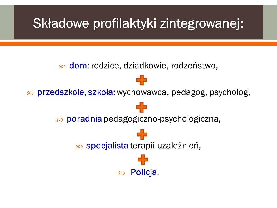 Składowe profilaktyki zintegrowanej: