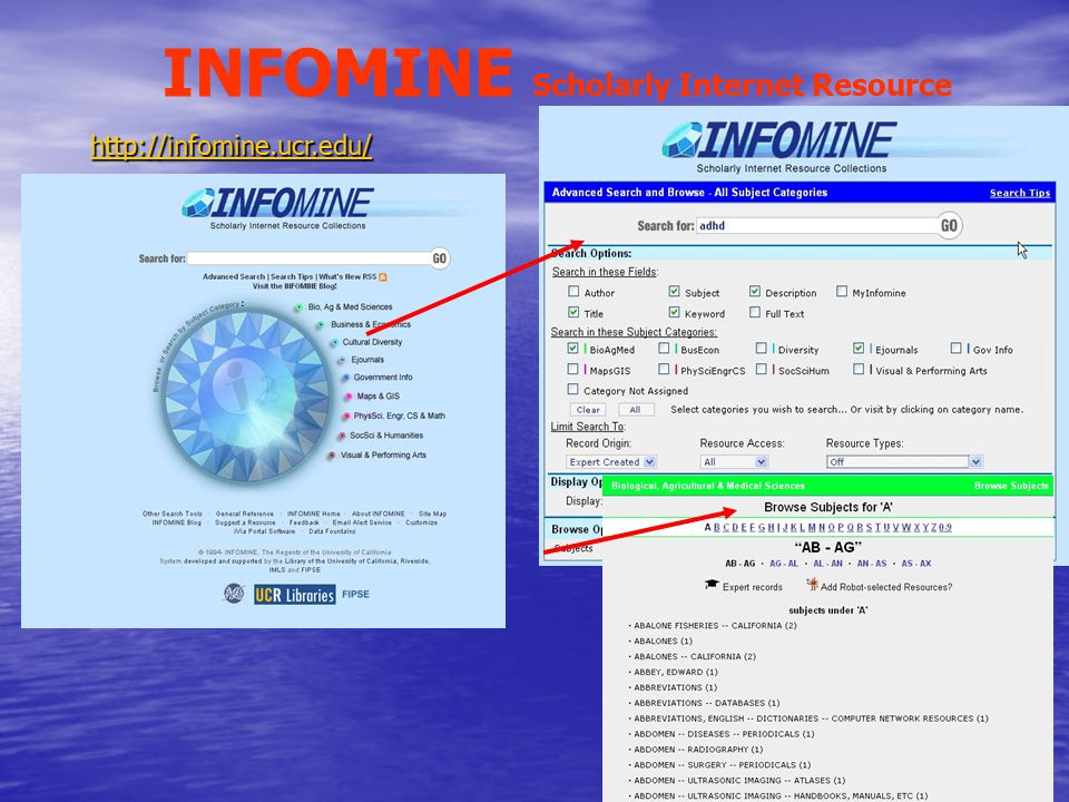INFOMINE Scholarly Internet Resource