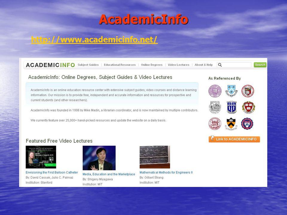 AcademicInfo http://www.academicinfo.net/
