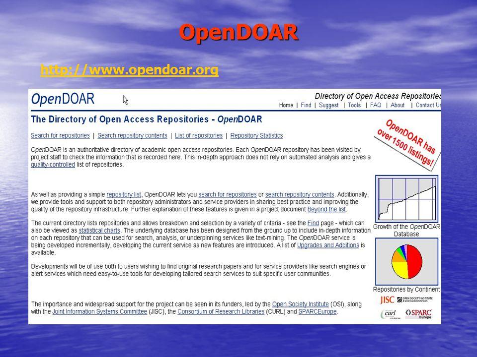 OpenDOAR http://www.opendoar.org