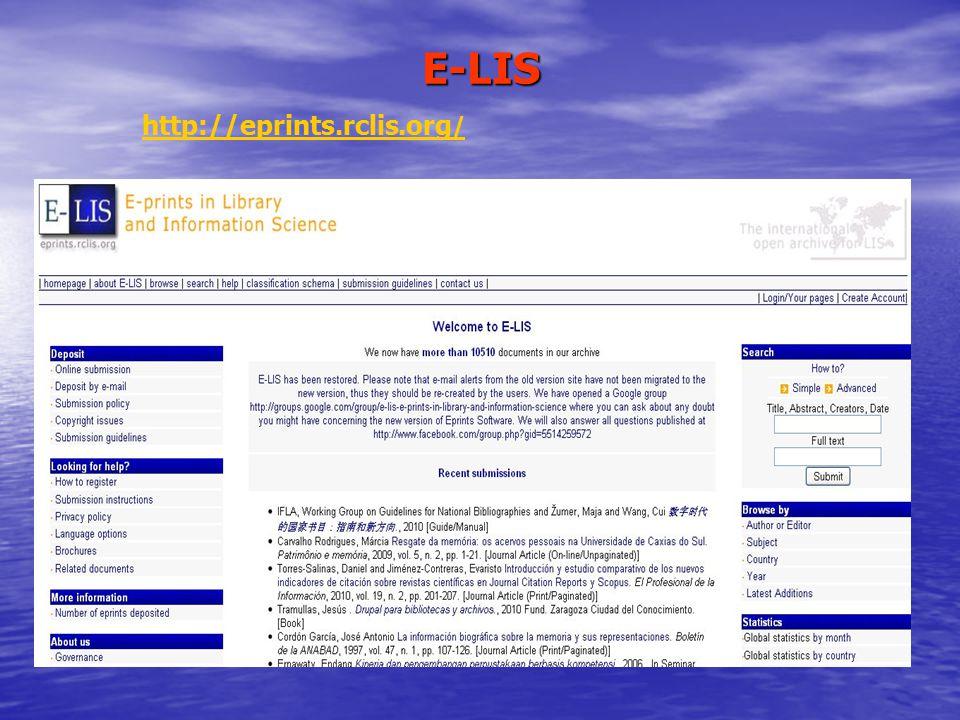 E-LIS http://eprints.rclis.org/