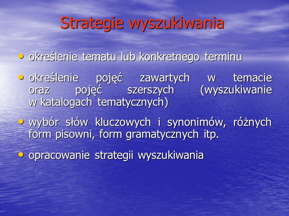 Strategie wyszukiwania