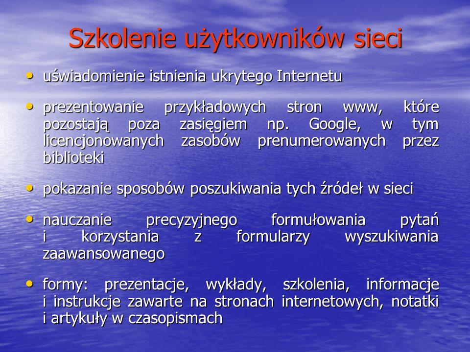 Szkolenie użytkowników sieci
