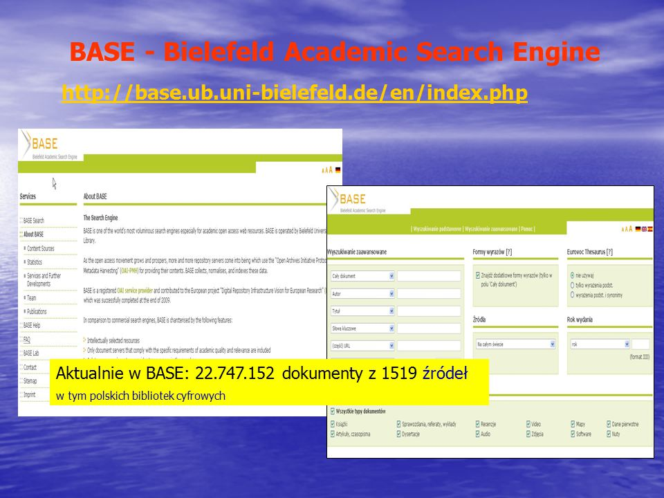 BASE - Bielefeld Academic Search Engine