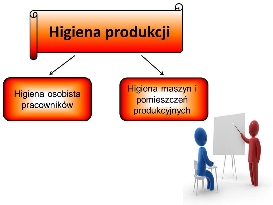 Higiena produkcji Higiena maszyn i pomieszczeń produkcyjnych
