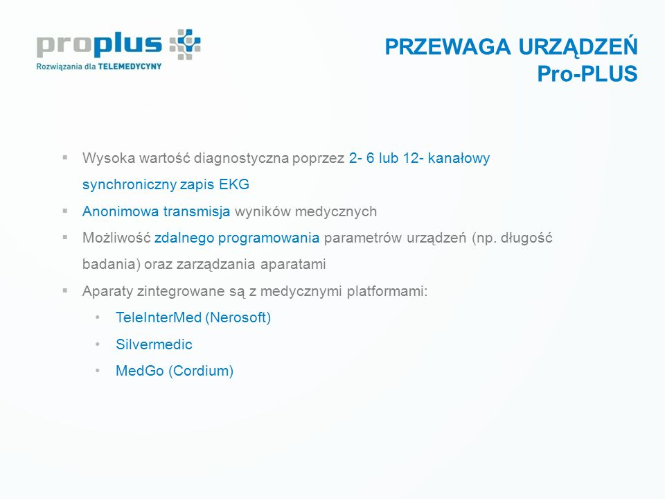 PRZEWAGA URZĄDZEŃ Pro-PLUS