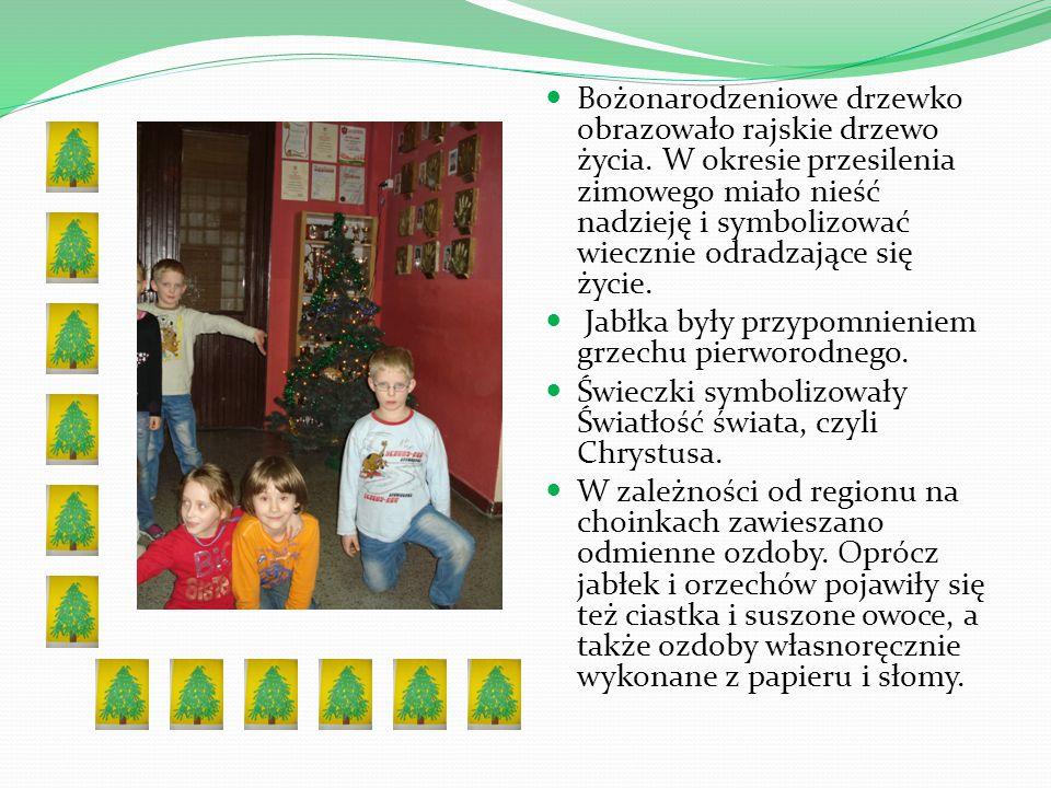 Bożonarodzeniowe drzewko obrazowało rajskie drzewo życia