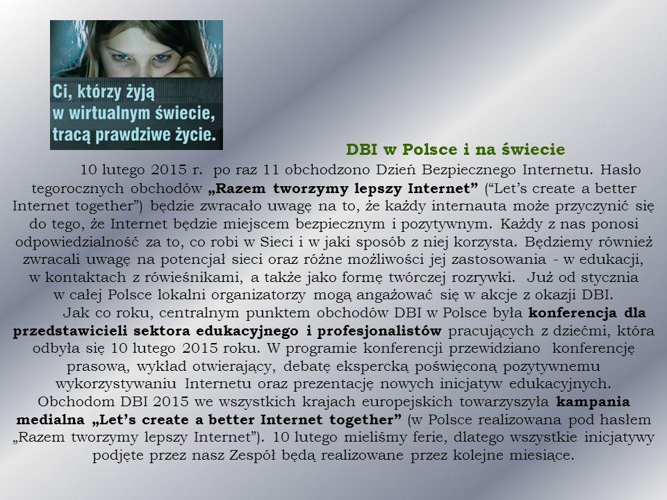 DBI w Polsce i na świecie 10 lutego 2015 r