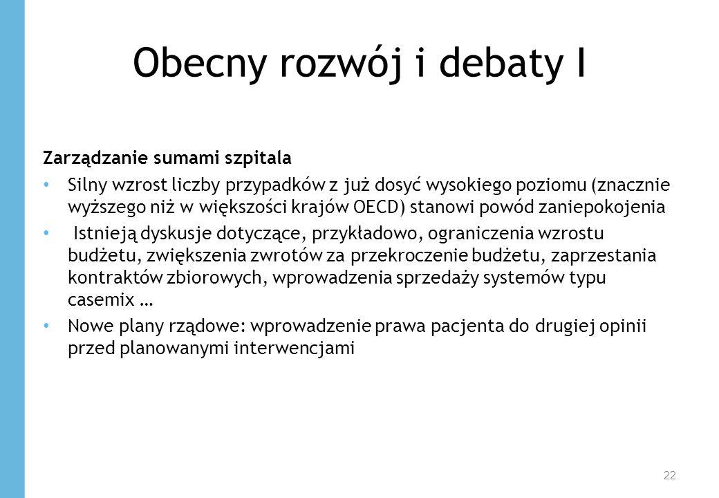 Obecny rozwój i debaty I