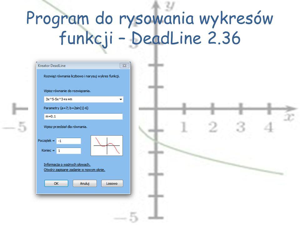 Program do rysowania wykresów funkcji – DeadLine 2.36