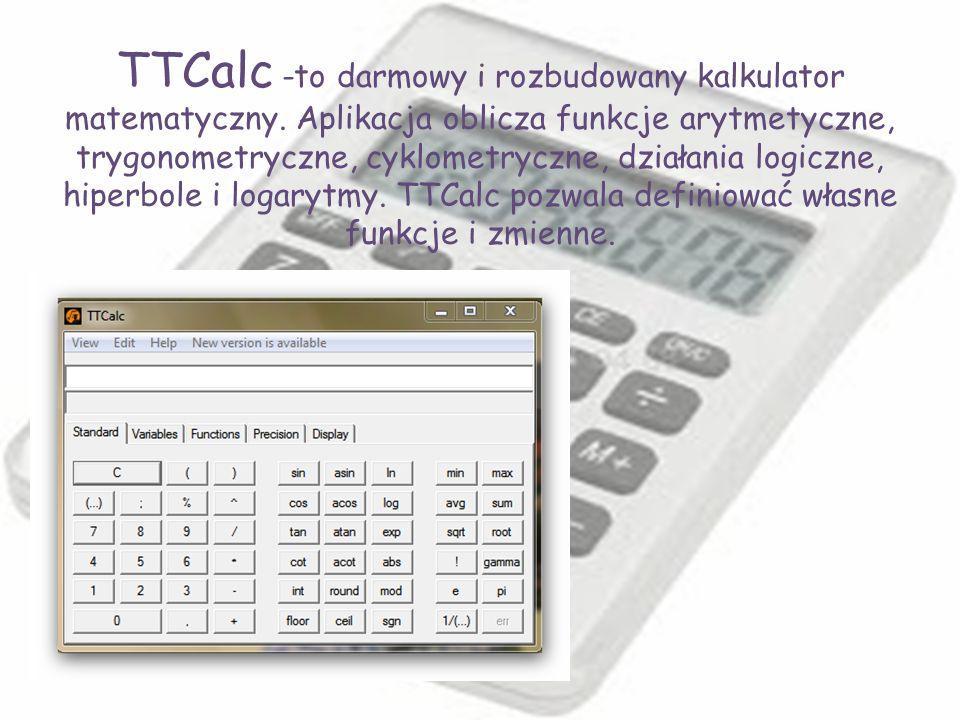 TTCalc -to darmowy i rozbudowany kalkulator matematyczny