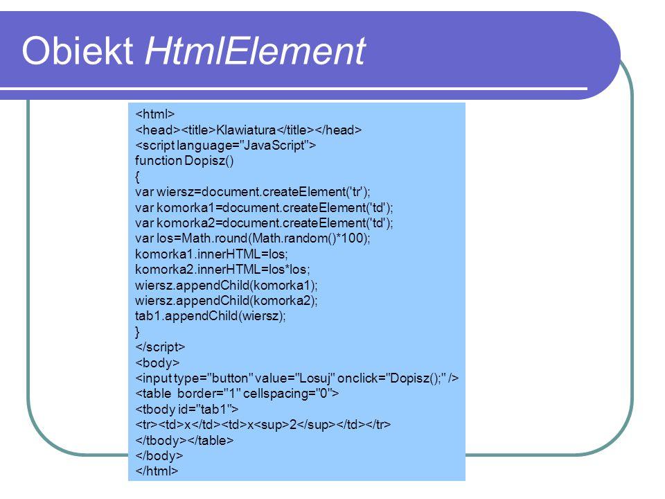 Obiekt HtmlElement <html>