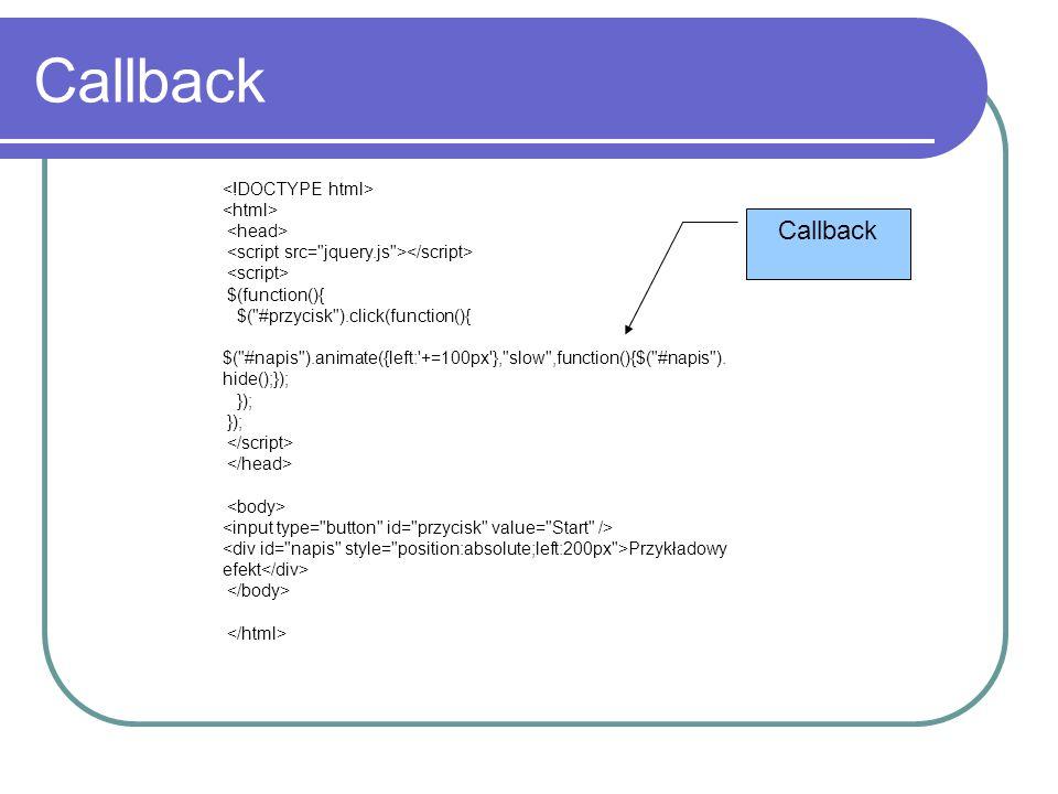 Callback Callback <!DOCTYPE html> <html> <head>