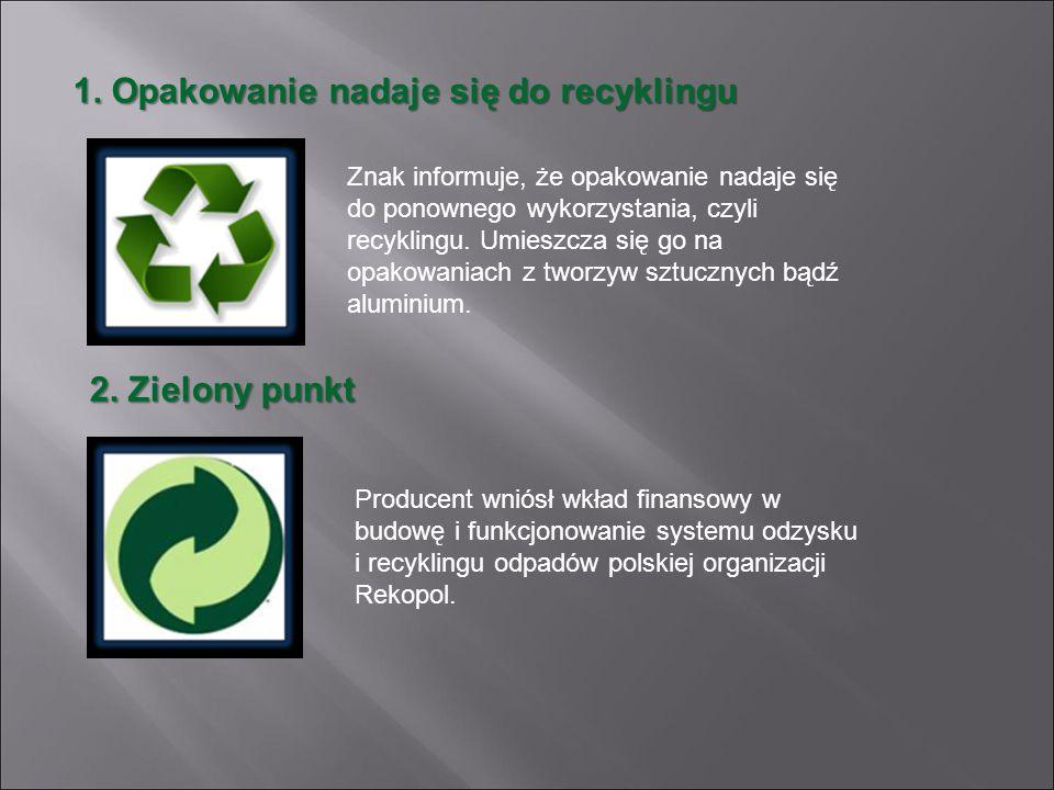 1. Opakowanie nadaje się do recyklingu