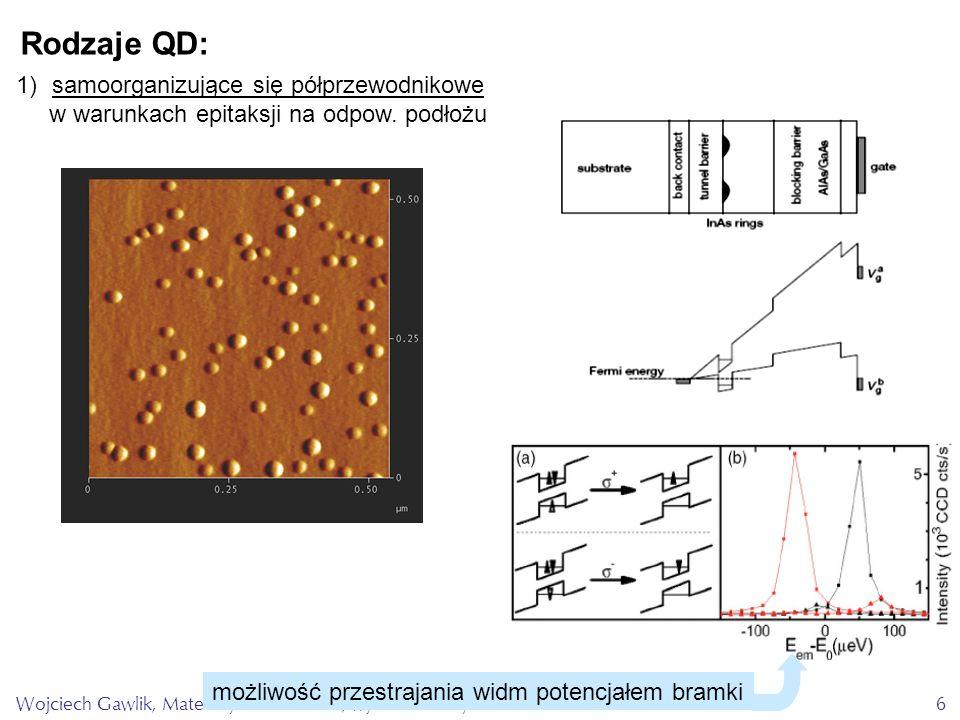 Rodzaje QD: samoorganizujące się półprzewodnikowe