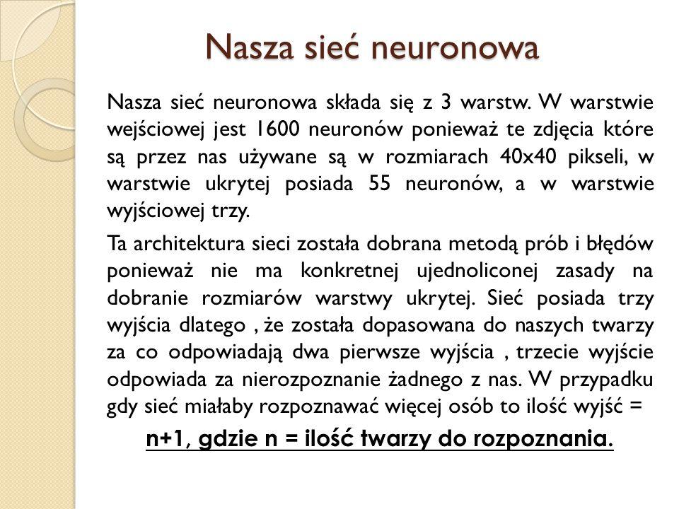 Nasza sieć neuronowa
