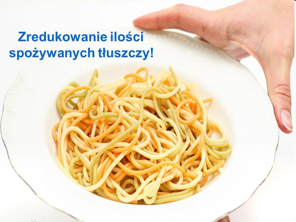 Zredukowanie ilości spożywanych tłuszczy!