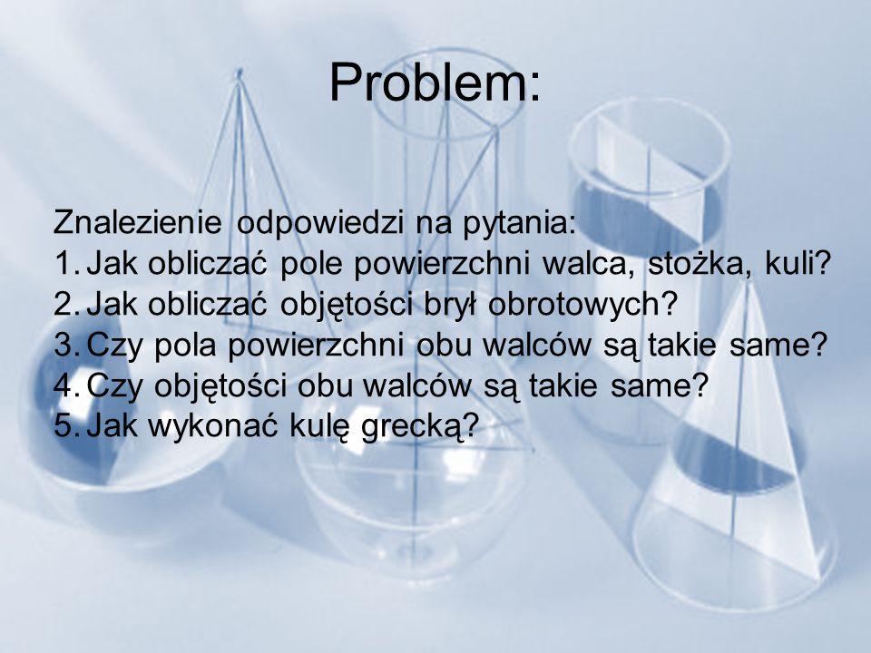 Problem: Znalezienie odpowiedzi na pytania: