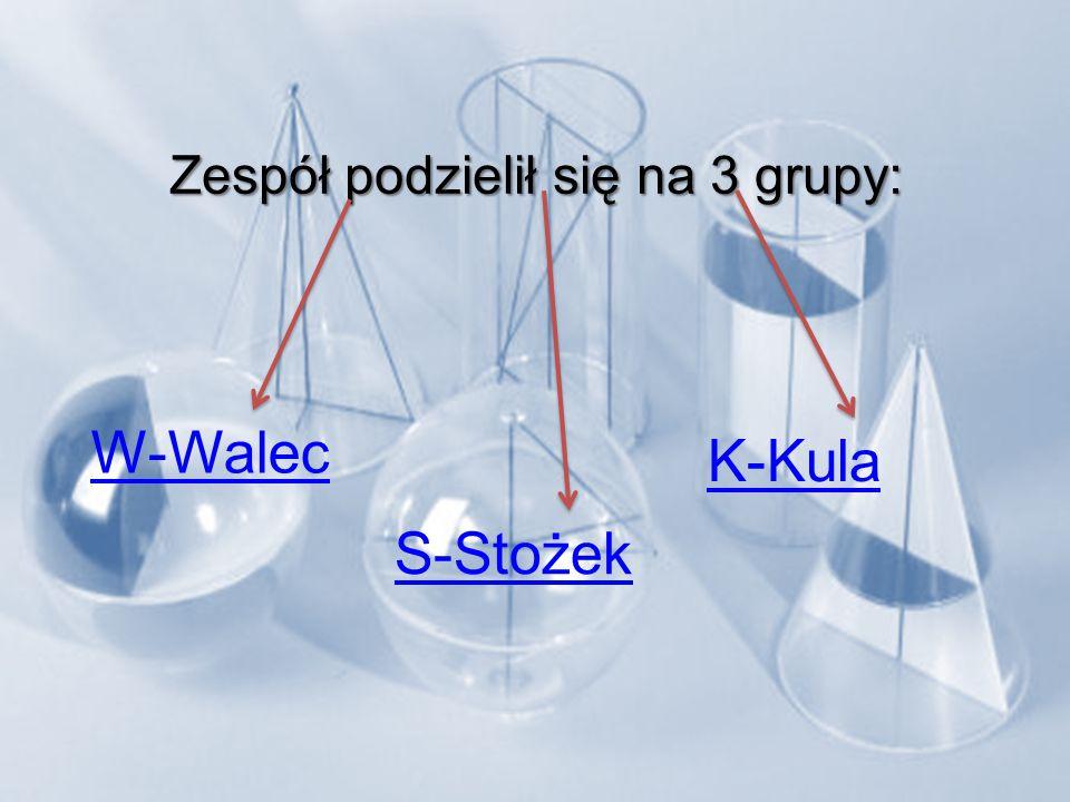Zespół podzielił się na 3 grupy: