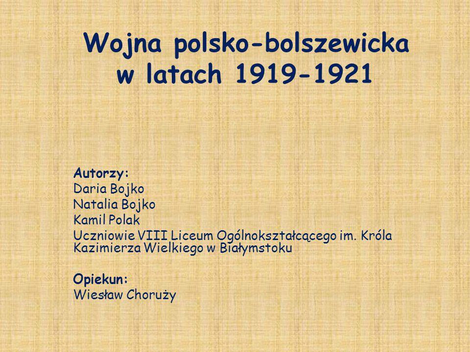 Wojna polsko-bolszewicka w latach 1919-1921