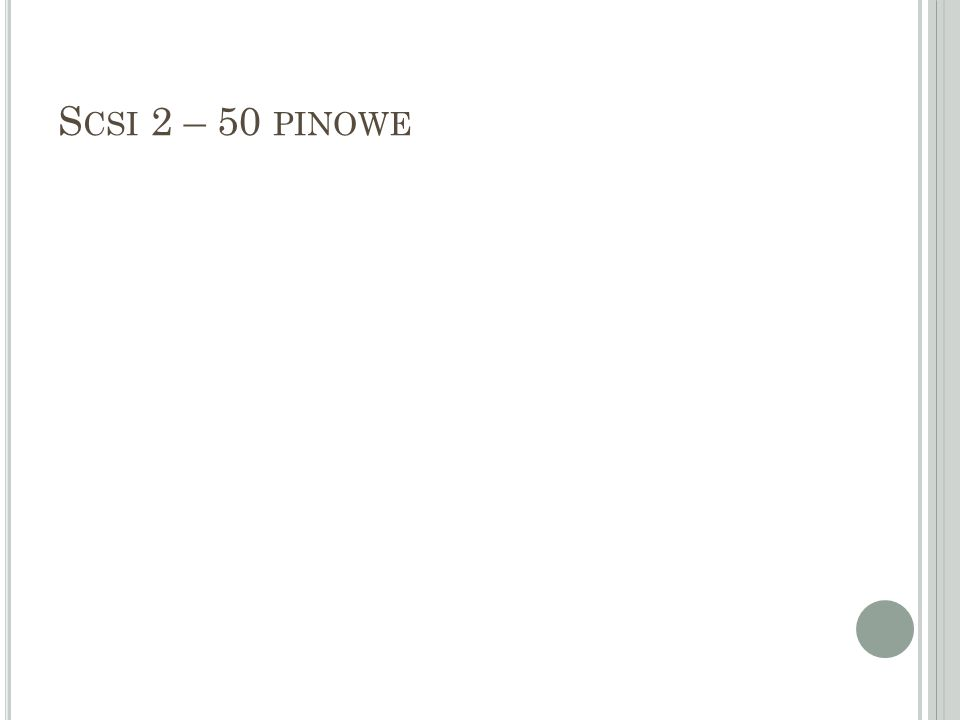 Scsi 2 – 50 pinowe