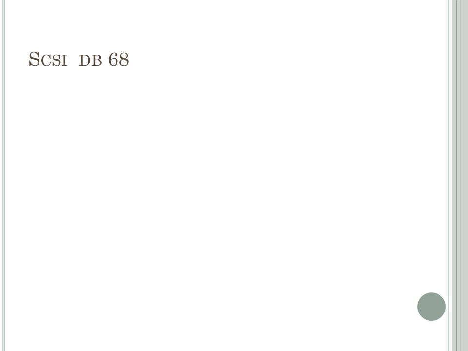 Scsi db 68
