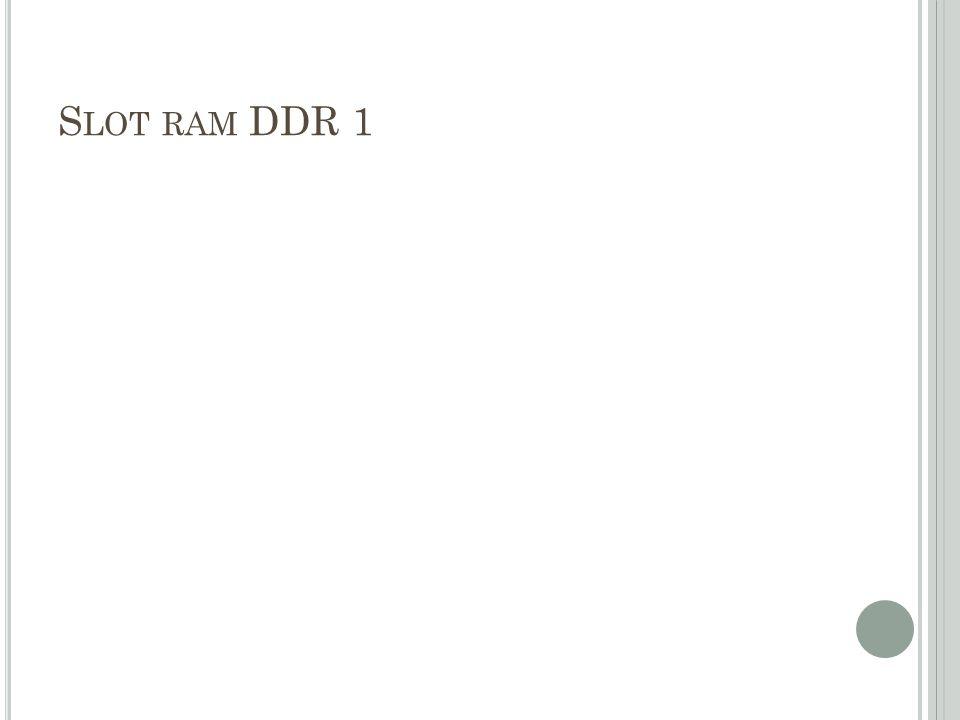 Slot ram DDR 1