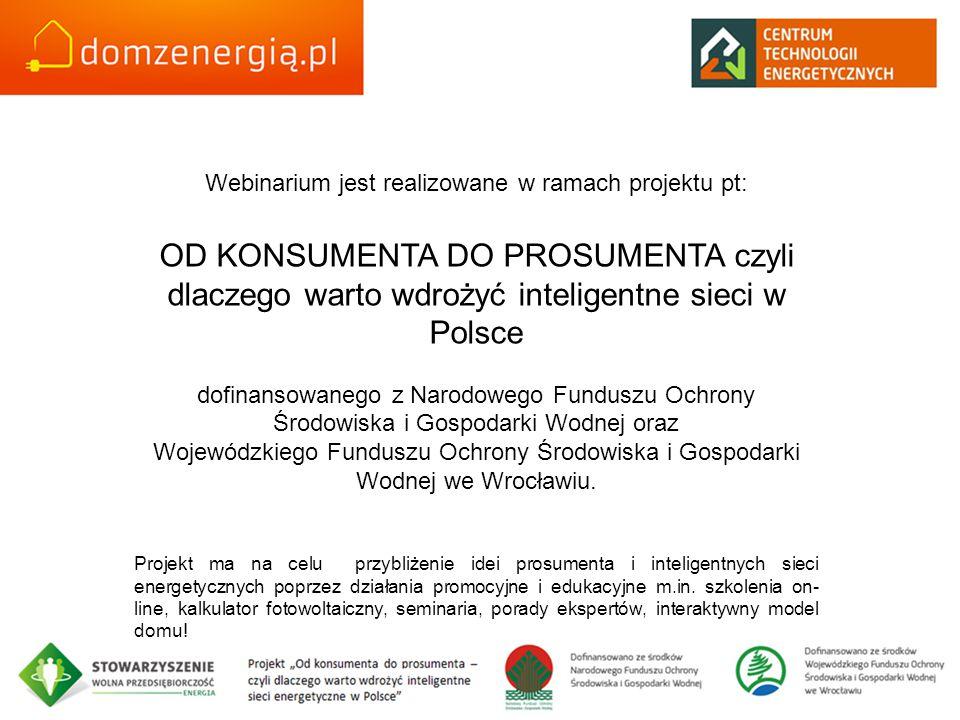 Webinarium jest realizowane w ramach projektu pt: