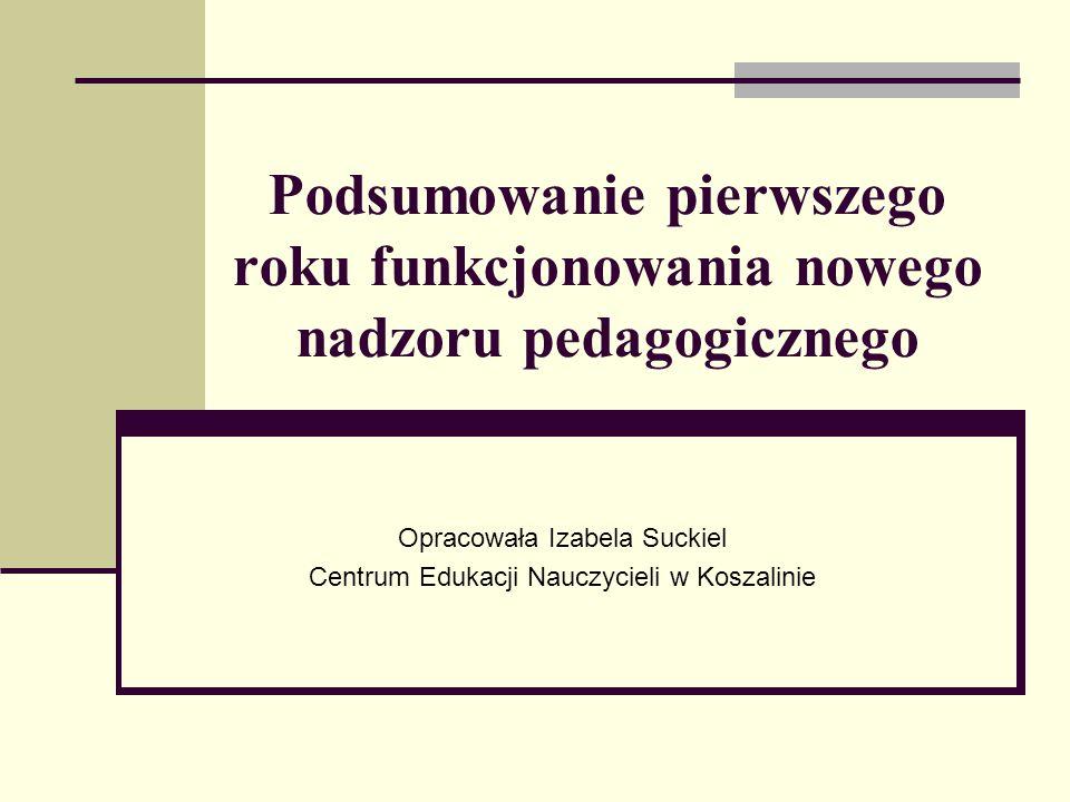 Opracowała Izabela Suckiel Centrum Edukacji Nauczycieli w Koszalinie