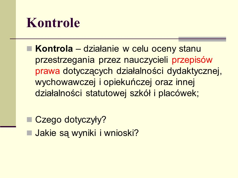 Kontrole